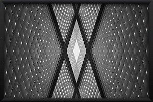 Quadro Geometric Preto e Branco