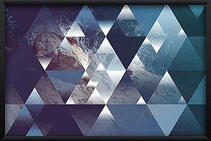Quadro Ondas e Triângulos