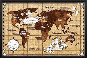 Quadro Mapa Pirata