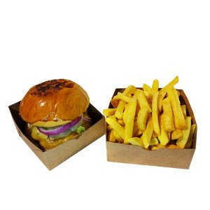 Embalagem para Hambúrguer - 100 Unidades