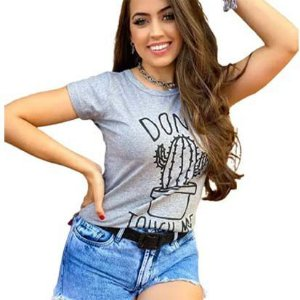 Kit 5 T-shirts Blusas Feminina Roupas Atacado Revenda