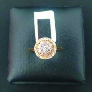 Anel Pizza com Diamantes 91 Cts