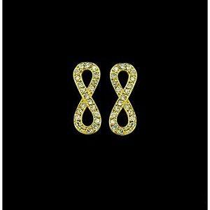 Brinco Infinito com 46 Diamantes