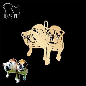 Pingente Personalizado Pet/cachorro 2 Corpos