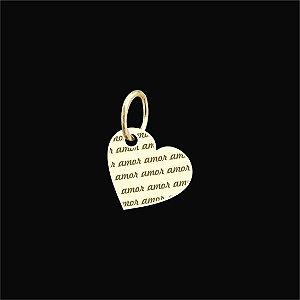 Pingente Coração com Escrita