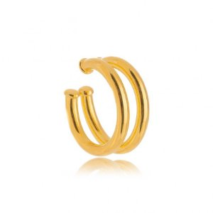 Piercing Liso Ouro Duplo