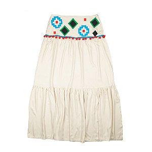 Saia viscose bordado tribal
