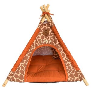 cabana estampa girafa marrom