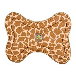 tapete comedouro girafa marrom