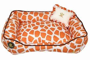 Cama girafa laranja com cru
