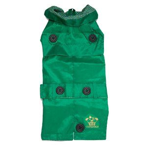 Trench coat verde com estampa xadrez