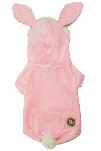 Casaquinho coelhinho rosa bb