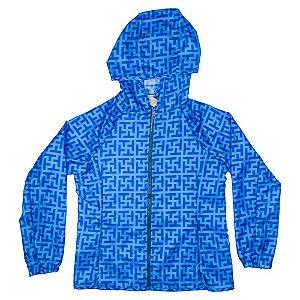 Jaqueta impermeável estampa Tutti azul