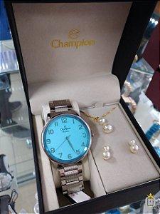 Relógio Champion Feminino - Kit - CN29918N