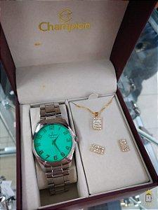 Relógio Champion Feminino - Kit - CN29909B