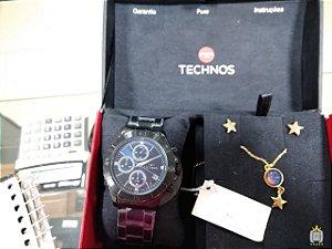 Relógio Technos feminino - Kit - JS15FL-B4A