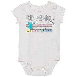Body Bebê Fofurometro Manga Curta Branco - Momi