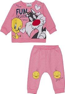Conjunto Casa e Calça Looney Tunes - Momi