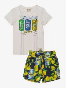 Conjunto T-Shirt manga curta com Shorts - YOUCCIE