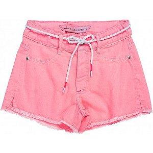 Shorts de Sarja Rosa Neon - IAM AUTHORIA