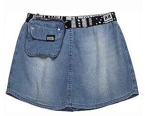 Shorts-Saia Jeans com Pochete - IAM AUTHORIA