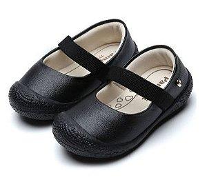 Sapato Primeiros Passos Danda Básico Preto - Pampili