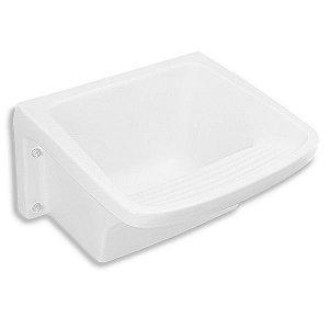 Tanque Simples Retangular Louça Branco 31L Celite - Sem Coluna