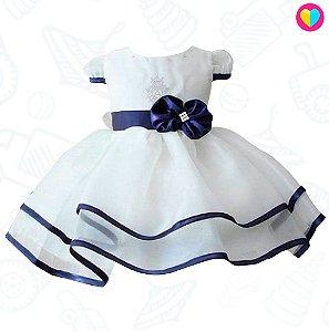 Vestidinho Mini Dona White/Blue Princesa