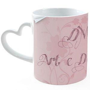 Caneca em cerâmica coração