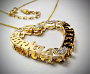 Pingente Mandala Coração Semi jóia personalizada corações em zircônia