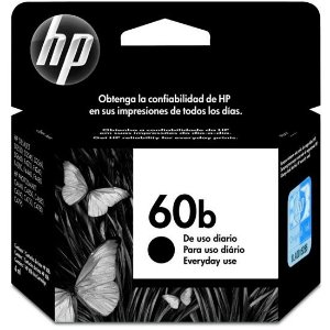 Cartucho de Tinta HP 60B CC636WB Preto - Original 4,5ml