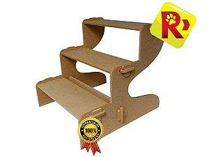Escada P/ Cães Desmontável Portátil Em Mdf - Suporta 35kg