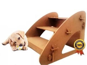 Escada Para Cães E Gatos Subir Na Cama Em Madeira Idosos Sofá