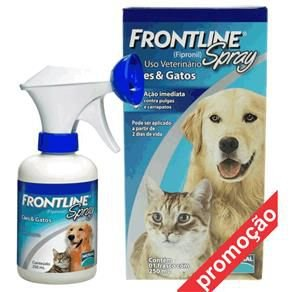 Antipulgas e Carrapatos Frontline Spray para Cães e Gatos - 100 mL