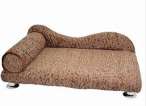 Sofá Divã Para Cães e Gatos Madeira com Cheline Cama Confortável e Fácil de Limpar