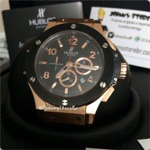 Relógio Hublot Big Band Red Gold Black Ceramic