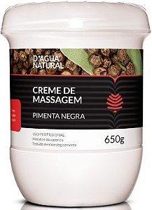 D'água Natural Pimenta Negra - Creme de Massagem 650g