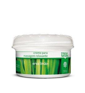 D'Água Natural Creme De Massagem  Erva Limão 300g