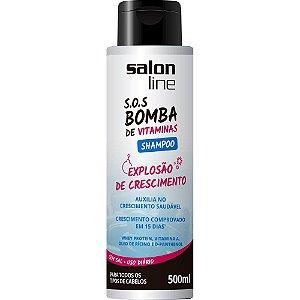 Salon Line Shampoo SOS Bomba Explosão de Crescimento Sem Sal 500ml