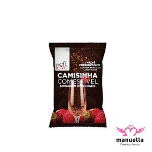 SOFT LOVE CAMISINHA COMESTÍVEL MORANGO COM CHAMP