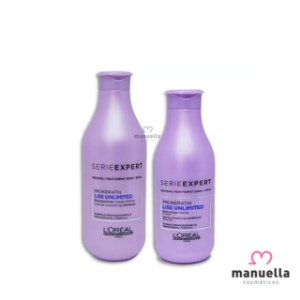 LOREAL SERIE EXPERT KIT LISS UNLIMITED  SHAMPOO 300ML + CONDICIONADOR 200ML