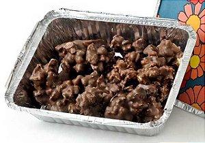 Marmitinha de Pipoca Caramelizada coberta com Chocolate Belga