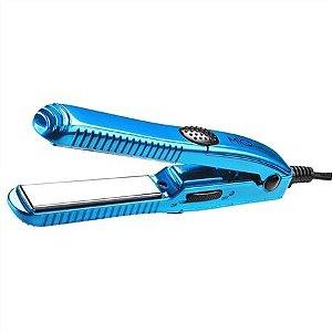 Prancha MQ Professional Mini Titanium azul C300 Bivolt