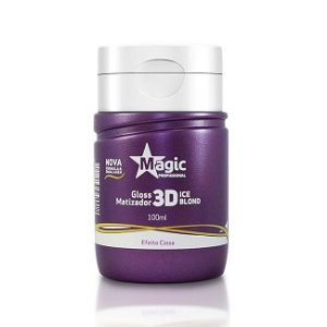 Mini Matizador Magic Color 3D Ice Blond Efeito Cinza 100ml