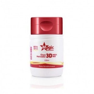 Mini Matizador Magic Color 3D Mega Red Efeito Vermelho Intenso 100ml