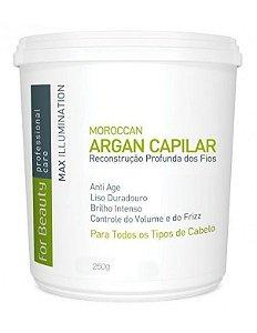 Creme Alisante Capilar Btox Max Illumination Argan Oil For Beauty 250g