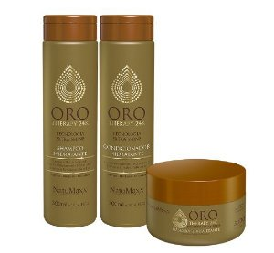 Kit Oro Therapy 24k Home Care Natumaxx 3 itens