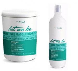 Kit Let Me Be Progressiva Sem Formol 1L + Máscara Biorestore Prosalon 1Kg