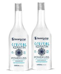 Escova Crystal Keratin Power Liss 2 Passos Morgane Bio Care