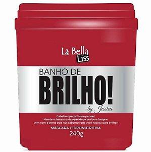Banho de Brilho Máscara Hidronutritiva La Bella Liss 240g